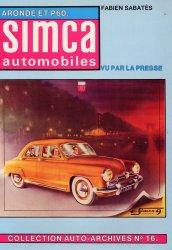 SIMCA AUTOMOBILES ARONDE ET P60