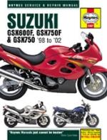 SUZUKI GSX600F, GSX750F & GSX750 '98 TO '02 (3987)