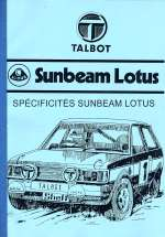 TALBOT SUNBEAM LOTUS MANUEL DE REPARATION