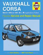 VAUXHALL CORSA MARCH 1993 TO 1997 (K TO R REGISTRATION) PETROL (1985)