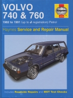 VOLVO 740 & 760 1982 TO 1991 (UP TO J REGISTRATION) PETROL (1258)