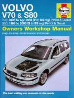 VOLVO V70 E S80 2000 TO 2005 PETROL E DIESEL OWNERS WORKSHOP MANUAL (4263)